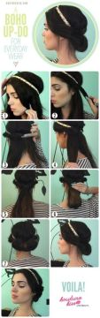 Quick headband updo