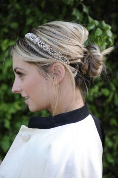 Easy bun with headband