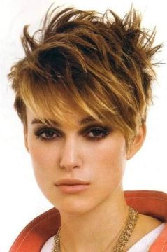 Keira Knightly spiky hair