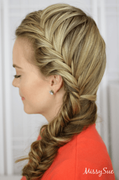 Side French Fishtail Braid