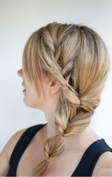 Side Braided Multiple Topsy Tail Side Pony