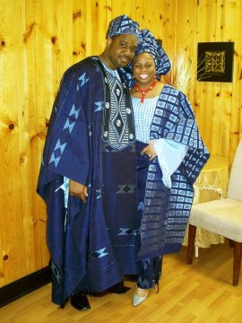Aso Oke Etu Wedding Attire