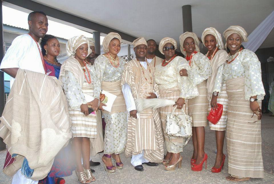 Aso oke for yoruba wedding dress
