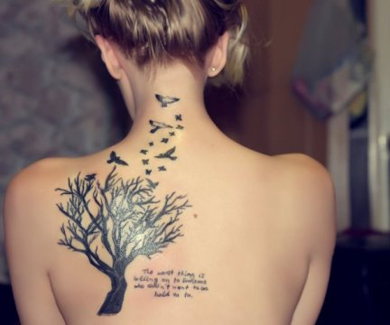Back tattoo - Women