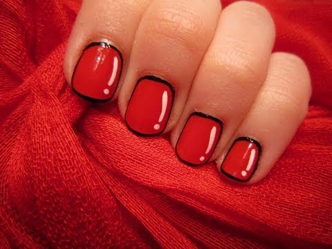 Animated Red Short Nails