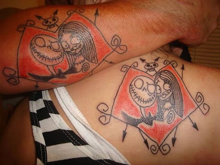 Awesome Matching Tattoo Design For Couples