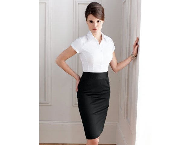 Formal Black Pencil Skirt Outfit - fmag.com