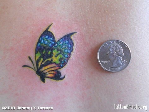 Coin for Measure, Small Butterfly Tattoo