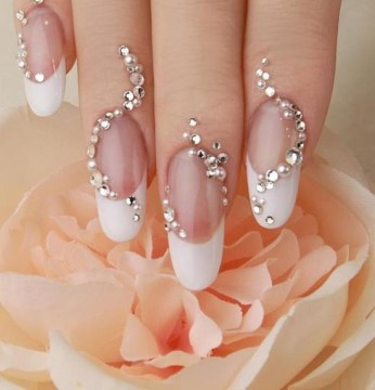 Creative Wedding Nail Art Design
