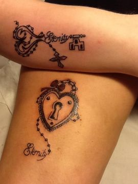 Cute Eternity Couple Tattoo