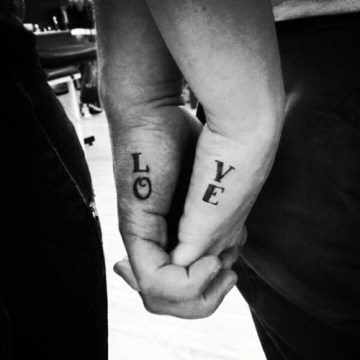 L-O-V-E Matching Couple Tattoo