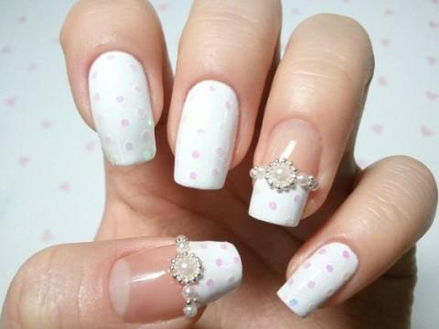 Lace Wedding Nail Designs - Best White Wedding Nails Ideas & Gels For Brides FMag.com