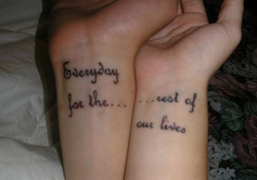 Meaningful Couple Tattoo