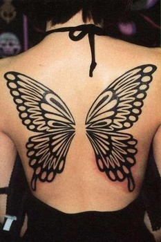 Minimalist Butterfly on the Back