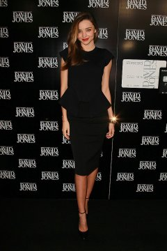 Miranda Kerr Black Peplum Dress and Pencil Skirt
