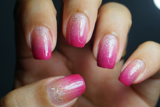 Pink Ombre with Glitter for Weddings