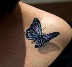 Purple 3D Butterfly