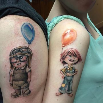 Up Awesome Couple Tattoos