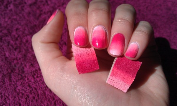 Wedding Nails Pink Ombre