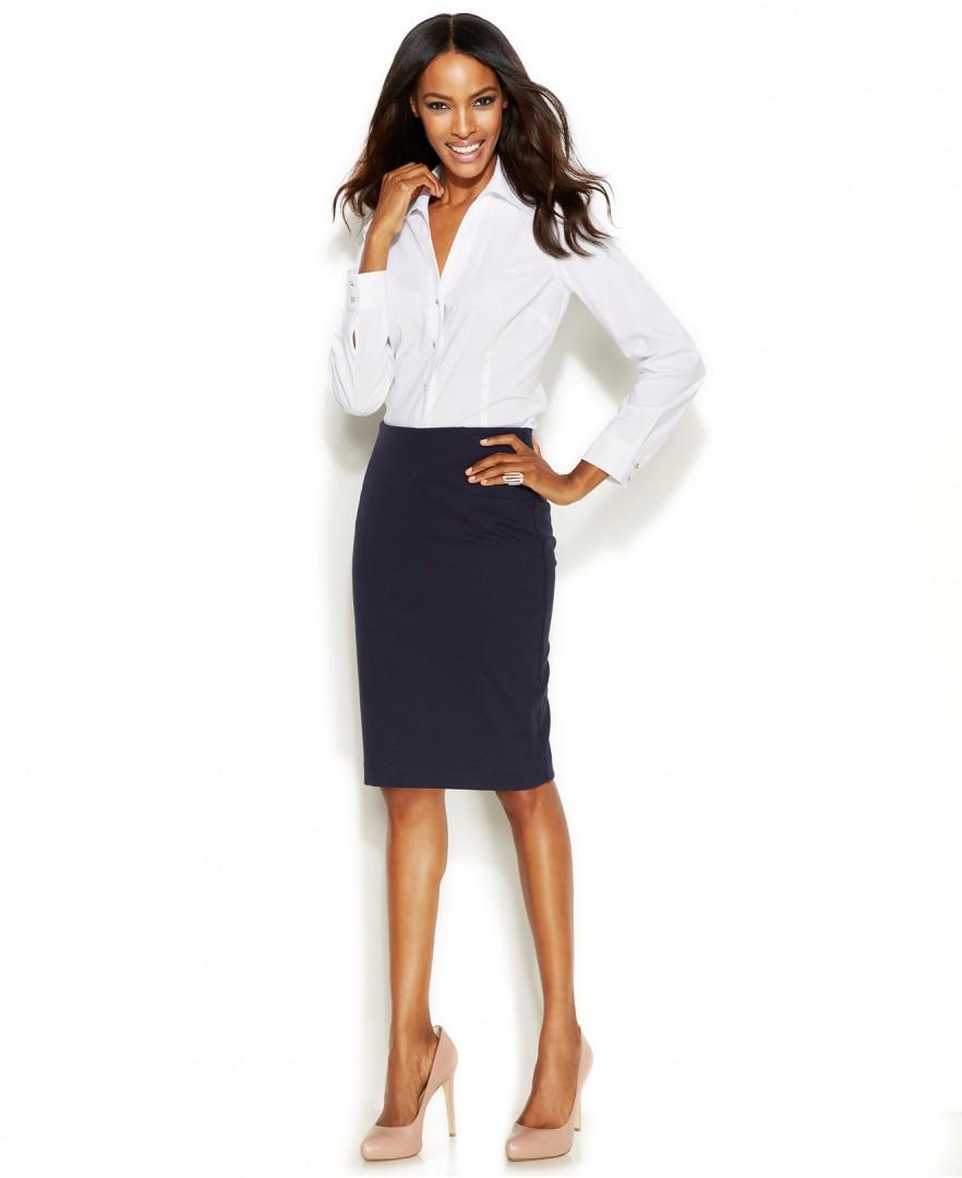Formal Skirt And Shirt