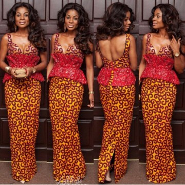 gorgeous peplum styled sheath ankara