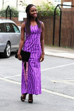 stunning purple shift dress ankara