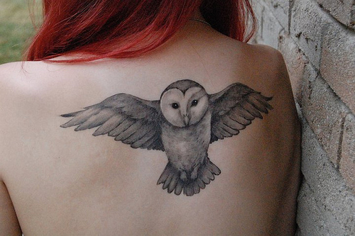 owl on harry potter tattoo