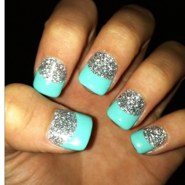 French Tip Nail Designs With Glitter Fmag