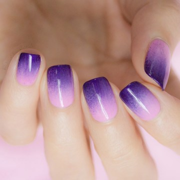 Purple Ombre French Tip Nails