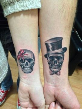mr and mrs skull tattoo