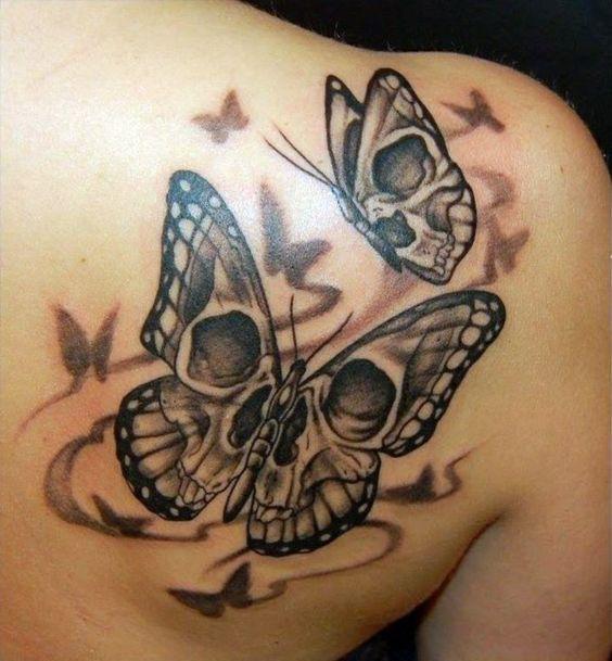 90 stunning skull tattoo ideas for women fmag com rh fmag com skull flower and butterfly tattoo skull rose and butterfly tattoo