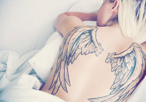 big wings back tattoo 2