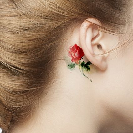 Small Red Rose Tattoo Fmagcom