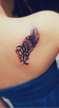 one wing tattoo