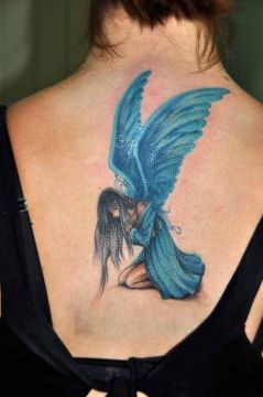 blue angel tattoo