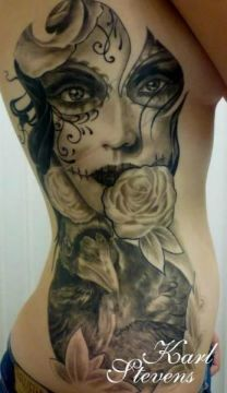 beautiful sugar skull face tattoo 5