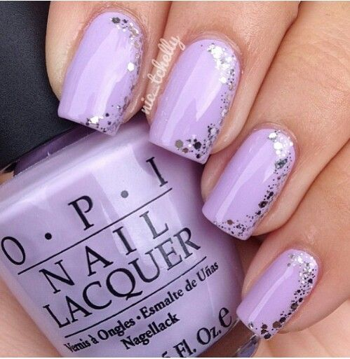 ... this nail art. It looks like a thousand tiny stars on your nails. It  requires no effort at all. Buy fairy dust cutex, apply it on your nails and  rock ... - 60 Amazing Purple Nail Designs - FMag.com