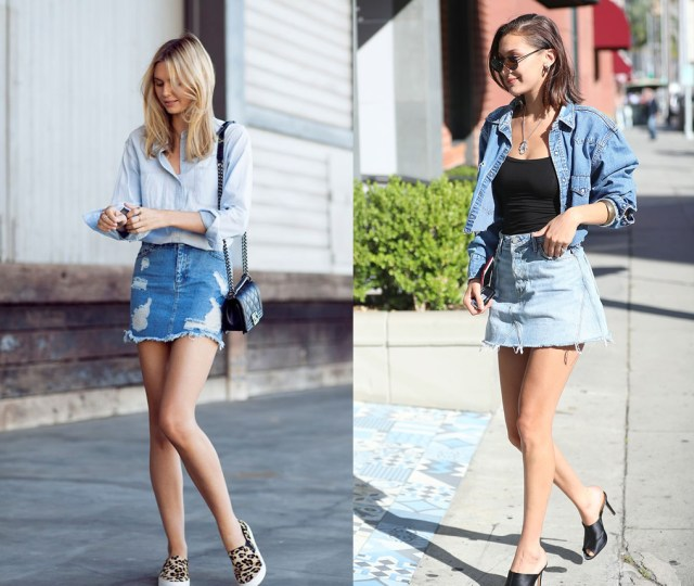 denim skirt showcase