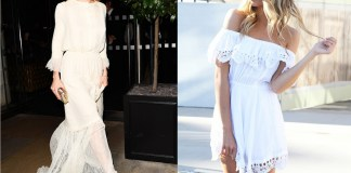 white boho dress featuring sienna miller