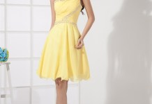 yellow cocktail dress feature