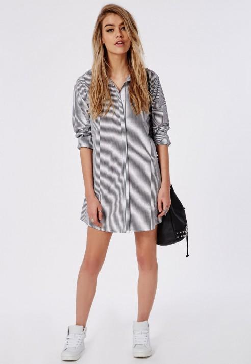 boyfriend shirt dress outfit idea