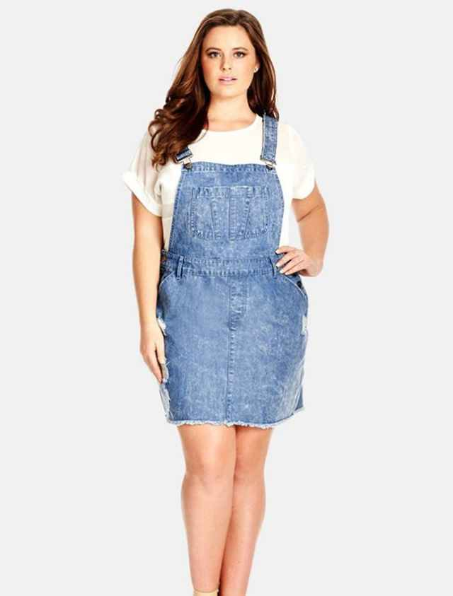 denim overall skirt plus size