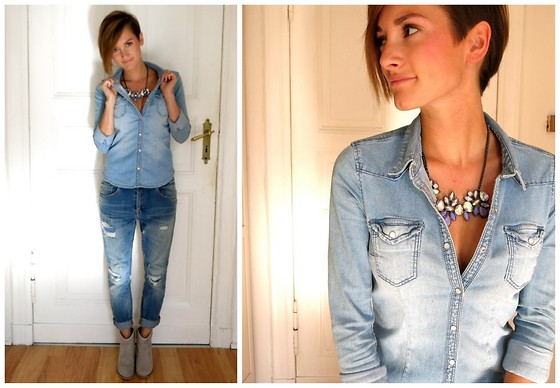 jeans shirt with boyfriend jeans