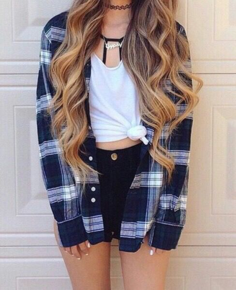 knotted t shirt denim shorts boyfriend shirt