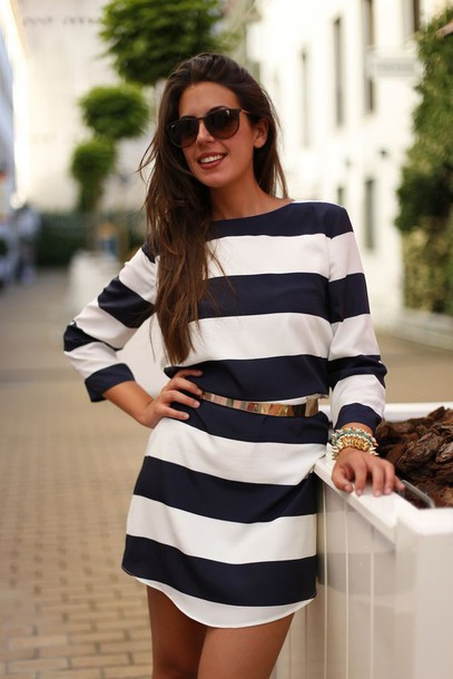 long sleeve t shirt dress thin belt