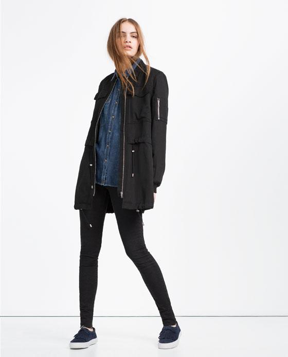 longline bomber jacket women