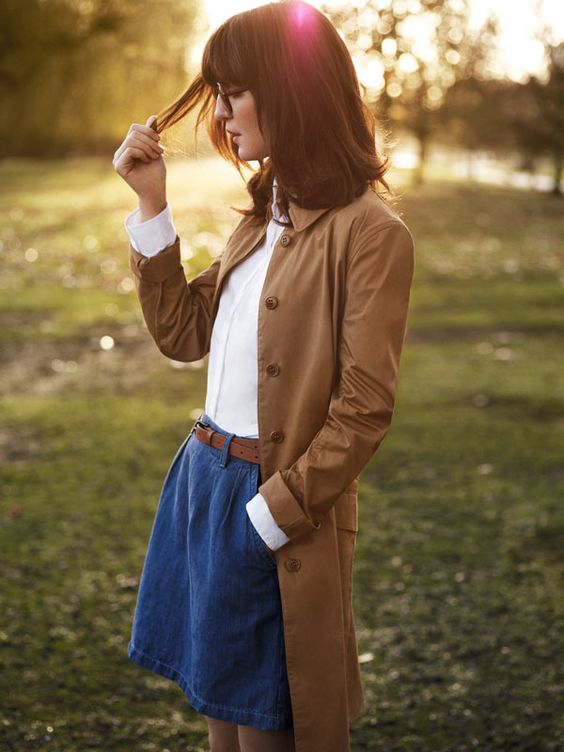 classic trench look