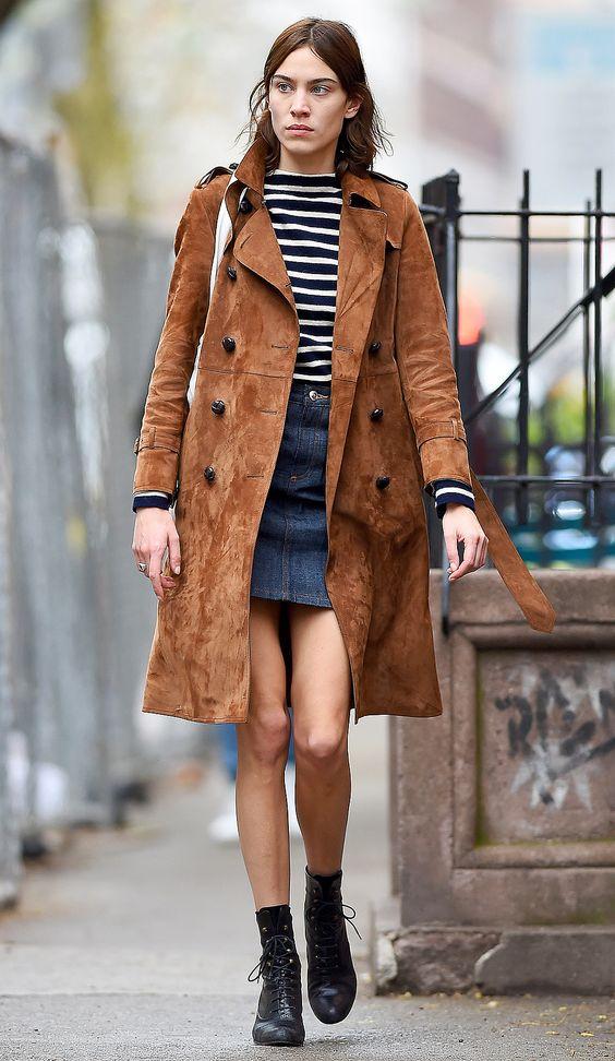 trench coat brown denim