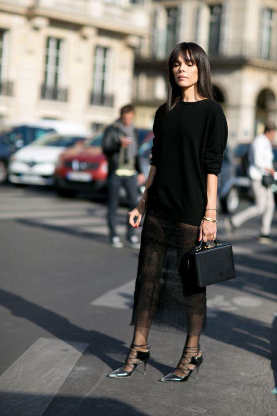 black lace dress outfit 2