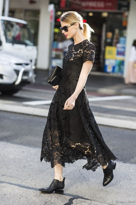 black lace dress classic
